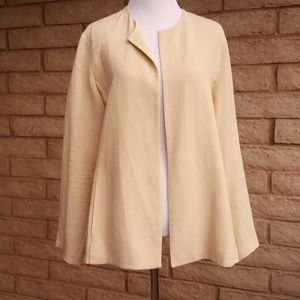 Eileen Fisher Silk Blend Lagenlook Open Cardigan